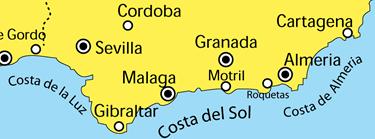 De kusten van Andalusie
