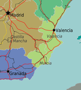 klein kaartje valencia murcia