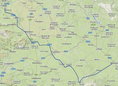 overzichtskaartje don quijote route