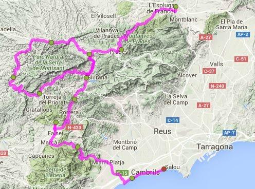 fietsroute Catalonie