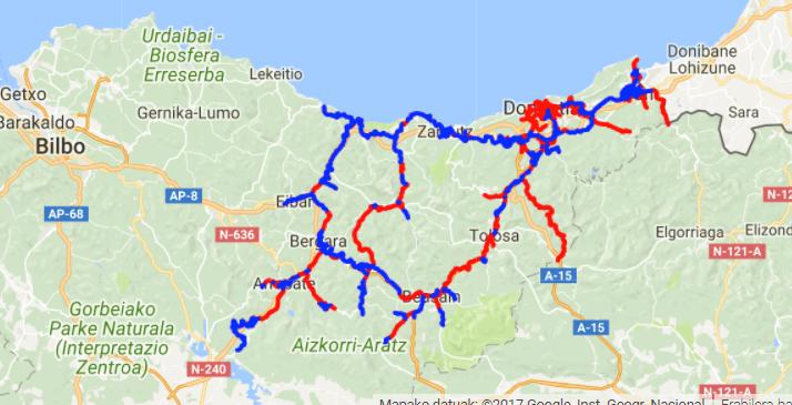 fietspaden baskenland