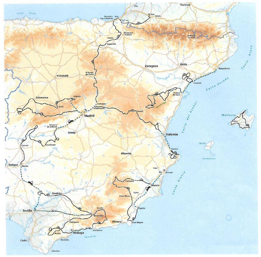 fietsroutes Spanje